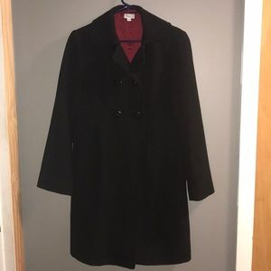 Mimi maternity long black winter coat size small